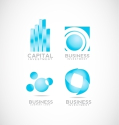 Business investment capital logo vector