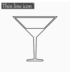 Coctail icon Style thin line vector image vector image