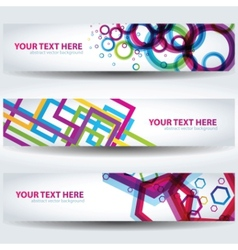 colorful abstract banners vector image vector image