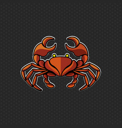 crab logo design template crab head icon vector image vector image