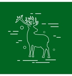 Deer Line Icon vector image