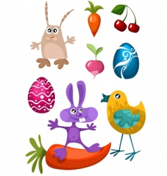 Easter characters vector