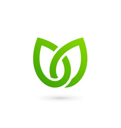 Eco leaves tulip logo icon design template vector