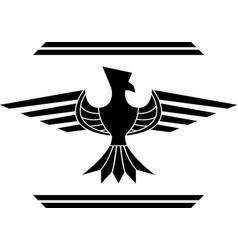 fantasy bird stencil second variant vector image