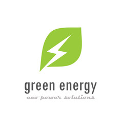 green eco energy logo vector image
