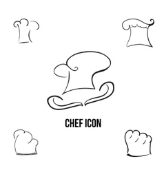 han-drawn stylish chef icon with additional vector image