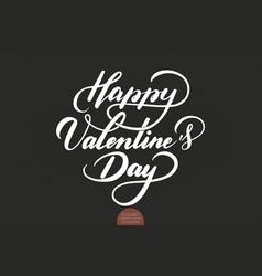 Happy valentines day text valentines vector