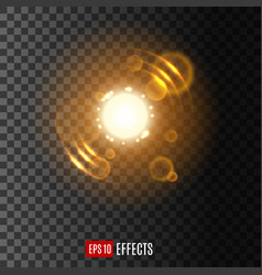 light effect with lens flare and sparkles vector image vector image