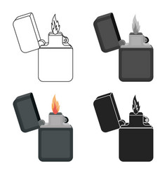 Lighter icon in cartoon style isolated on white vector