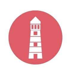 Lighthouse emblem icon image vector