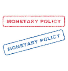 Monetary policy textile stamps vector