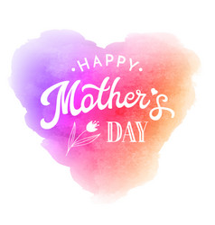 Mother day greeting card with flower and lettering vector