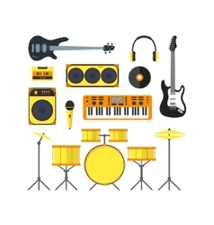 Musical Instruments Set Flat vector image vector image