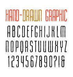 Narrow sanserif font vector