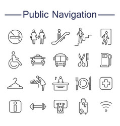 public navigation signs icons vector image vector image