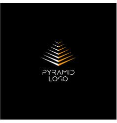 pyramid logo concept vector image