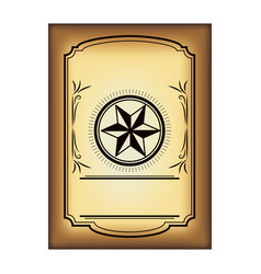 Retro piece of paper with star deisgn vector