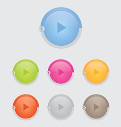 Round play button vector image vector image