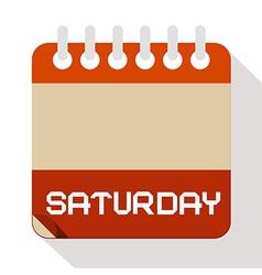 Saturday paper calendar vector