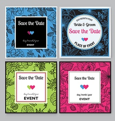 Save the date 02 vector image vector image