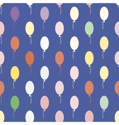 Seamless background with baloons vector image