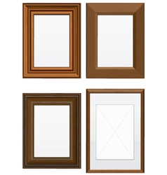 Set of wooden frames vector