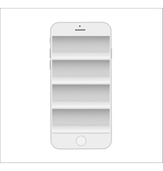 Store shelves in phone online e-commerce mobile vector