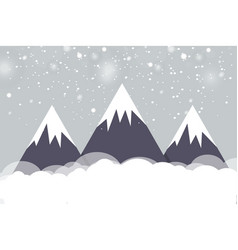 the journey to the mountainsthe landscape of the vector image