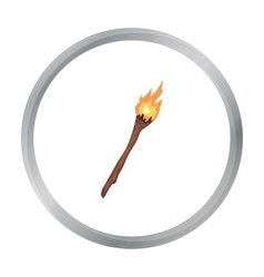 Torch icon in cartoon style isolated on white vector image vector image