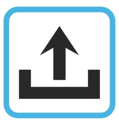 Upload icon in a frame vector