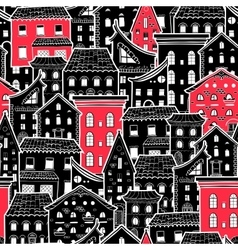 Houses New Pattern 6 vector image