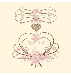 Greeting hanging heart vector