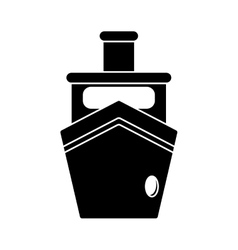 Silhouette steam boat ship transport vector