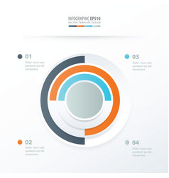 pie chart infographics orange blue gray color vector image