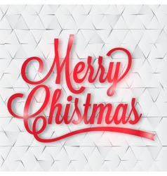 Merry christmas greeting card on the paper vector