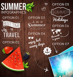 Abstract summer infographics poster with vector