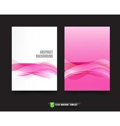 Flyer brochure background templated 013 ligth pink vector