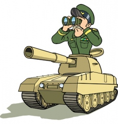 Tank battle general vector