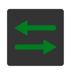 Arrows exchange horizontal flat green and gray vector