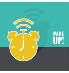 Background with alarm clock vector