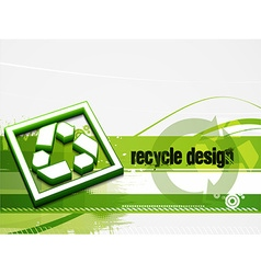 Recycle baner background vector
