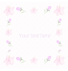 Floral frame for text watercolor vector