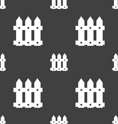 Fence icon sign seamless pattern on a gray vector
