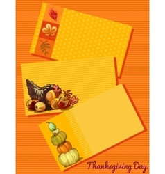 Set of three cards thanksgiving day vector