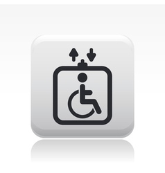 Handicap elevator icon vector