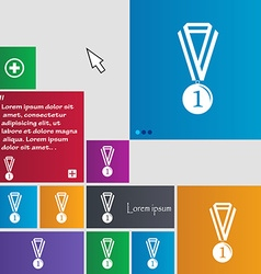 Medal for first place icon sign buttons modern vector