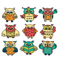 Owl group vector
