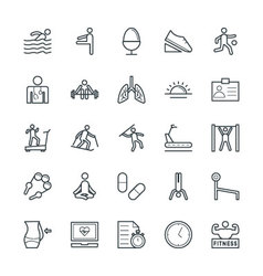 Fitness cool icons 4 vector