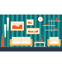 color interior of cartoon minimalistic modern vector image