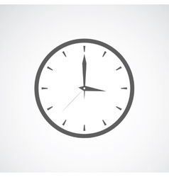 Grey clock icon vector